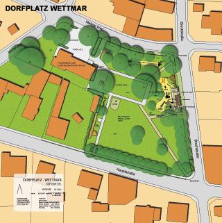 Vorentwurf Dorfplatz Wettmar